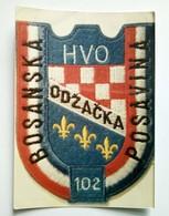 Bosnian War Small Cardboard Calendar 1994, 102. Brigade HVO, Odzak, Bos. Posavina, Bosnia And Herzegovina - Calendari