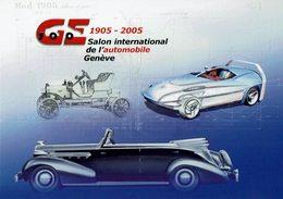 2005 HELVETIA SUISSE ENTIER POSTAL - SALON DE GENEVE. 100 ANS DE PROGRES AUTOMOBILE - Coches