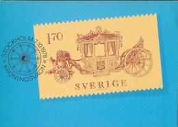 SVERIGE - CARROZZA PER LA CORONA - 07.10.1978 - NUOVA - Francobolli (rappresentazioni)