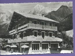 D 74  CPSM 150 X105 Mm LES HOUCHES  Hotel Pension Le  Slalom Non Ecrites N040 - Les Houches