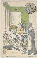 Thèmes, Illustrateurs,F.RABOEUF 1914,Les Ambulances, Les Soins,animations, Couleurs, Scan Recto-Verso - Autres Illustrateurs