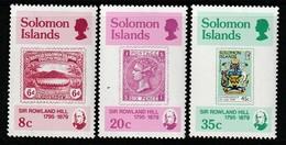 SALOMON - 1979 - N°375/7 **  Sir Rowland Hill - Salomoninseln (Salomonen 1978-...)