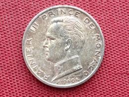 MONACO Monnaie De 5 Frs 1960 En Argent - 1949-1956 Francos Antiguos