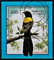 A0927 CONGO (Brazzaville) 1993,  Brasiliana '93 Stamp Exhibition, Birds, Used - Used