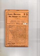 Carte Routière N° 3  Taride, Paris, Champagne (nord), Ardennes - Cartes Routières