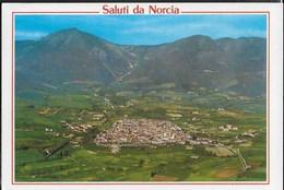 SALUTI DA NORCIA - VEDUTA AEREA - VIAGGIATA PER PRIORITARIA 2006 - Saluti Da.../ Gruss Aus...
