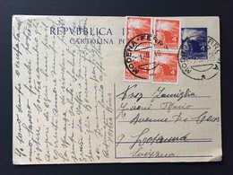 Italia,  MODENA 1948 Intero Postale Repubblica Diretto A Svizzera, Affrancato 4 X 4 Lire, Lausanne Suisse - Interi Postali