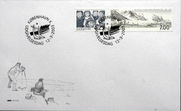DENMARK 2003  The Danish Litery Greenland Expedition    MInr.1335-36      FDC  ( Lot  Ks ) - FDC