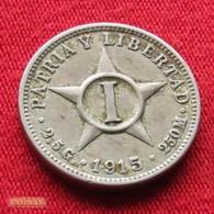 Cuba 1 Centavo 1915 KM# 9.1   *V2 - Cuba