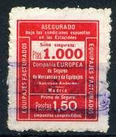 ESPAÑA. CUPONES. AHORRO - PRIMA. EUROPEA DE SEGUROS 1,50 - Fiscales