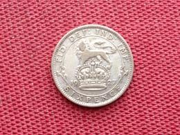 GRANDE BRETAGNE Monnaie Six Pence 1927 Argent - 1902-1971 : Monnaies Post-Victoriennes