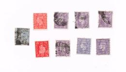 Lot De 9 Timbres Oblitérés,used.,gestempelt. Yvert 210,214 - Great Britain