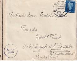 PAYS-BAS  1947 LETTRE DE GOUDA POUR L'ALLEMAGNE AVEC CENSURE ALLIEE - Periode 1891-1948 (Wilhelmina)
