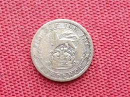 GRANDE BRETAGNE Monnaie Six Pence 1925 Argent - 1902-1971 : Monnaies Post-Victoriennes
