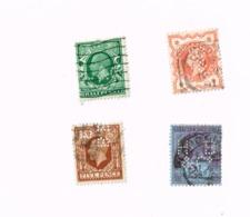 Lot De 4 Timbres Oblitérés,used,gestempelt.Yvert 91,95,166,187 - Great Britain