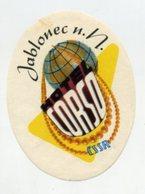 CZECHOSLOVAKIA, Luggage Label - (343) - Hotel Labels