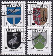 LETTLAND 1996 Mi-Nr. 399/02 O Used - Aus Abo - Latvia