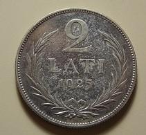 Latvia 2 Lati 1925 Silver - Lettonie