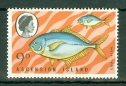 Ascension: 1970   Fishes (Series 3)  SG127w  9d  [Wmk Crown To Right Of CA]  MNH - Ascension