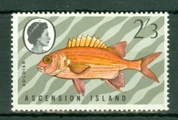 Ascension: 1970   Fishes (Series 3)  SG129w  2/3d  [Wmk Crown To Right Of CA]  MNH - Ascension