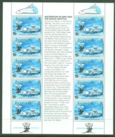 Ascension: 1981   'Space Shuttle' Mission & Opening Of 2nd Earth Station   MNH Sheetlet - Ascension