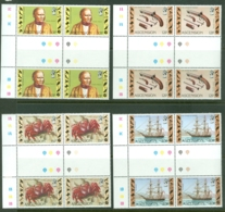 Ascension: 1982   150th Anniv Of Charles Darwin's Voyage   MNH Gutter Blocks Of 4 - Ascension