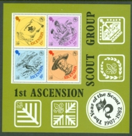 Ascension: 1982   75th Anniv Of Boy Scout Movement  M/S   MNH - Ascension