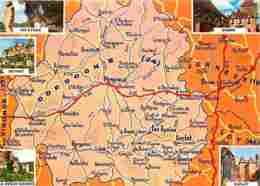 24 - Dordogne - Multivues - Carte Géographique - Voir Scans Recto-Verso - France