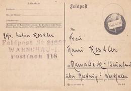 Karte Aus Rembentow/Warschau Nach Ramsbek 1940 - Deutschland
