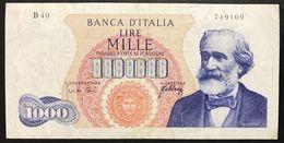 1000 LIRE Italia Verdi I° Tipo 20 05 1966  LOTTO 149 - [ 2] 1946-… : République