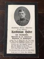 Sterbebild Wk1 Ww1 Bidprentje Avis Décès Deathcard IR67 27. März 1915 Aus Harthausen - 1914-18