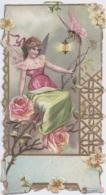 Chromos - Découpi - Ange Sur Roses - Insecte Abeille Papillon - Lanterne - Chicorée Bériot à Lille La Belle Jardinière - Angeles
