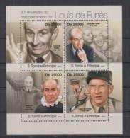 B95. S.Tome E Principe - MNH - 2013 - Famous People - Louis De Funes - Célébrités