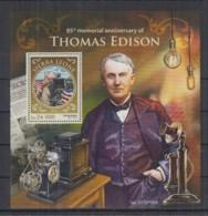 C95. Sierra Leone - MNH - 2016 - Famous People - Thomas Edison - Bl - Célébrités