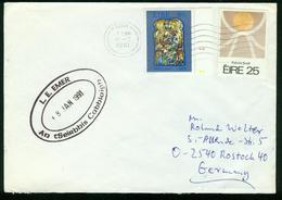 BR Irland, Cobh - 1991 Brief Nach BRD, Rostock ( PLZ O 2540 ) - 1949-... Republik Irland