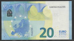 """EURO 20  ITALIA SA S017  """"36""""  DRAGHI  UNC - EURO"""