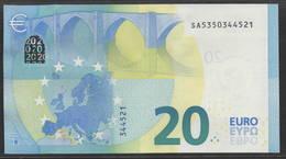 """EURO 20  ITALIA SA S017  """"35""""  DRAGHI  UNC - 20 Euro"""