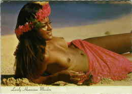 LOVELY HAWAIIAN MAIDEN - BATHING BEAUTY PINUP TOPLESS - BY LOYE 1970s (BG1980) - Other