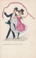 Couple Dancing With Ribbon , 1905 - Couples