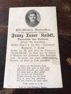 Sterbebild Wk1 Ww1 Bidprentje Avis Décès Deathcard RIR18 Somme FRICOURT PÉRONNE Aus Stadlern - 1914-18