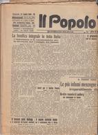 IL POPOLO TOSCANO  1928 - LUCCA - Quotidiano Politico - Altri