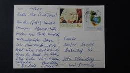 Portugal - 1982/84 - Mi:PT 1572, Sn:PT 1545, Yt:PT 1551 + Mi:PT 1631, Sn:PT 1602, Yt:PT 1610 On Postcard O - Look Scans - Cartas