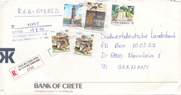 GRECE   NAXOS   COVER REGISTRED MAIL 1990  (GEN190213) - Grecia