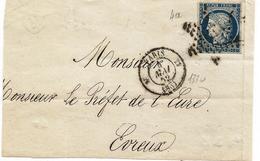 èSEINE - PARIS - Etoile Muette S Devant Avec/TPND N°4a + Càd T.15 Type 1330 - 1852 - 1849-1850 Cérès