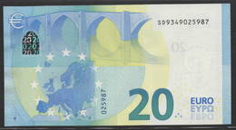 "EURO 20  ITALIA SD S017  ""34""  DRAGHI  UNC - 20 Euro"