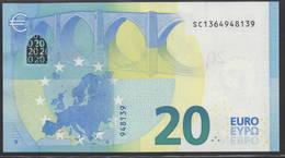 "EURO 20  ITALIA SC S017  ""36""  DRAGHI  UNC - EURO"