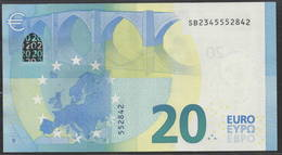 "EURO 20  ITALIA SB S017  ""34""  DRAGHI  UNC - 20 Euro"