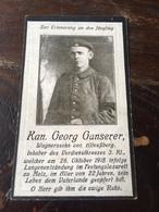 Sterbebild Wk1 Ww1 Bidprentje Avis Décès Deathcard Festungslazarett METZ 26. Oktober 1918 Lungenentzündung  Altnussberg - 1914-18