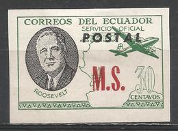 Ecuador 1949. #F (M) Roosevelt, M.S. * - Equateur