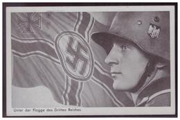 Dt-Reich (007617) Propaganda Postkarte, Unter Der Flagge Des Dritten Reiches, Gestempelt Mit SST München Und Kempten - Briefe U. Dokumente